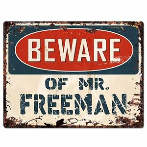FREEMAN Plate Chic Sign Home Store Wall Decor Funny Gift PP2359 Beware of MR