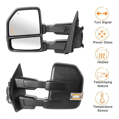 For 2004 2005 2006 Ford F150 Power Heated Driver Left Side Mirror w//Build-in LED Signal Replacement