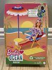 Barbie Loves the Ocean Beach Day Doll Furniture & Accessories Mattel NEW 🏖💗