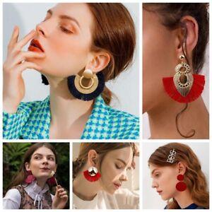 Hot-1-Pair-Women-New-Bohemian-Style-Long-Tassel-Dangle-Fringe-Hook-Earrings-Gift