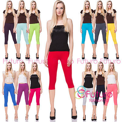 Cotton Yoga Gym Cropped Leggings 3/4 Summer Pants All Colours & Sizes Midl66 Und Ein Langes Leben Haben.