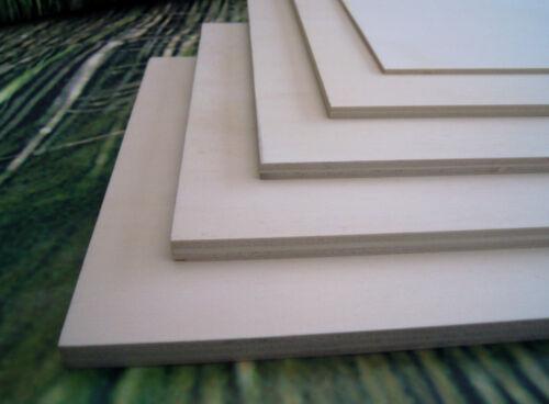 5mm Sperrholz Pappel Platte Laubsägearbeit Modellbau basteln Zuschnitt 14,40€//m²