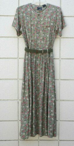Vintage 80 90s LizWear Dress Maxi Prairie Cottage