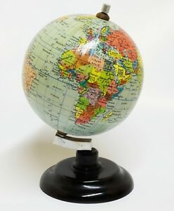 1957-Globo-Terraqueo-Bola-del-mundo-Esfera-Terrestre-Rath-12cm