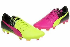 Détails sur Puma Evopower 3.3 TRICKS FG Jr Chaussures De Football UK 5.5 EU 38.5 Rose & Jaune afficher le titre d'origine