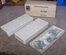 5 New Rittal Plastic Cable Gland Plate With Pg Knockouts 220x90mm Kl1581