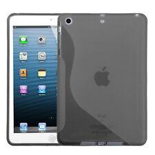 For APPLE iPad Mini TPU Case Gel Skin Cover Transparent Smoke Candy S Shape Case