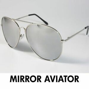 35844412bf3 Image is loading Extra-Large-Aviator-Sunglasses-Gold-or-Silver-Frame-