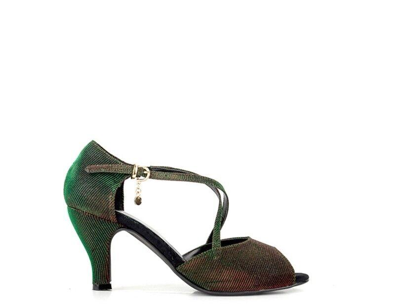 Schuhe MIDELETTE Frau NERO PU,Stoff 48-497