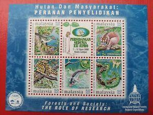 2000 Malaysia Miniature Sheet - XXI IUFRO World Congress ( 50 Sen )