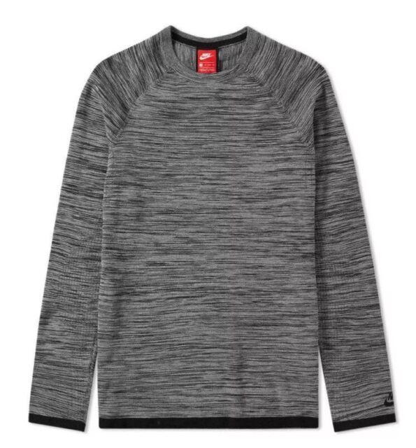 474842bd8f64 Nike Sportswear Tech Knit Crew Men s Sweatshirt Top Grey Size XS 832182-091