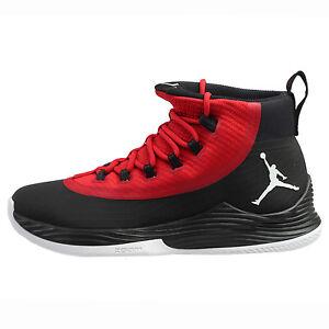 75b1cb48c14cf3 Jordan Ultra.Fly 2 Mens 897998-001 Black Gym Red Basketball Shoes ...