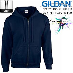 Gildan-Navy-Blue-Zip-Up-Hoodie-Heavy-Blend-Basic-Hooded-Sweatshirt-Sweater