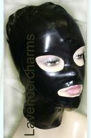 Catr Latex Rubber Catsuit Gummi Hood Mask Zip