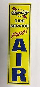 """""""sunoco Tire Service"""", Sunoco, Station De Gaz, Libre, Air, Signe, Alun, Métal-ir,sign, Alum,metal"""" Data-mtsrclang=""""fr-fr"""" Href=""""#"""" Onclick=""""return False;"""">afficher Le Titre D'origine S7ac9awk-08002410-192697304"""