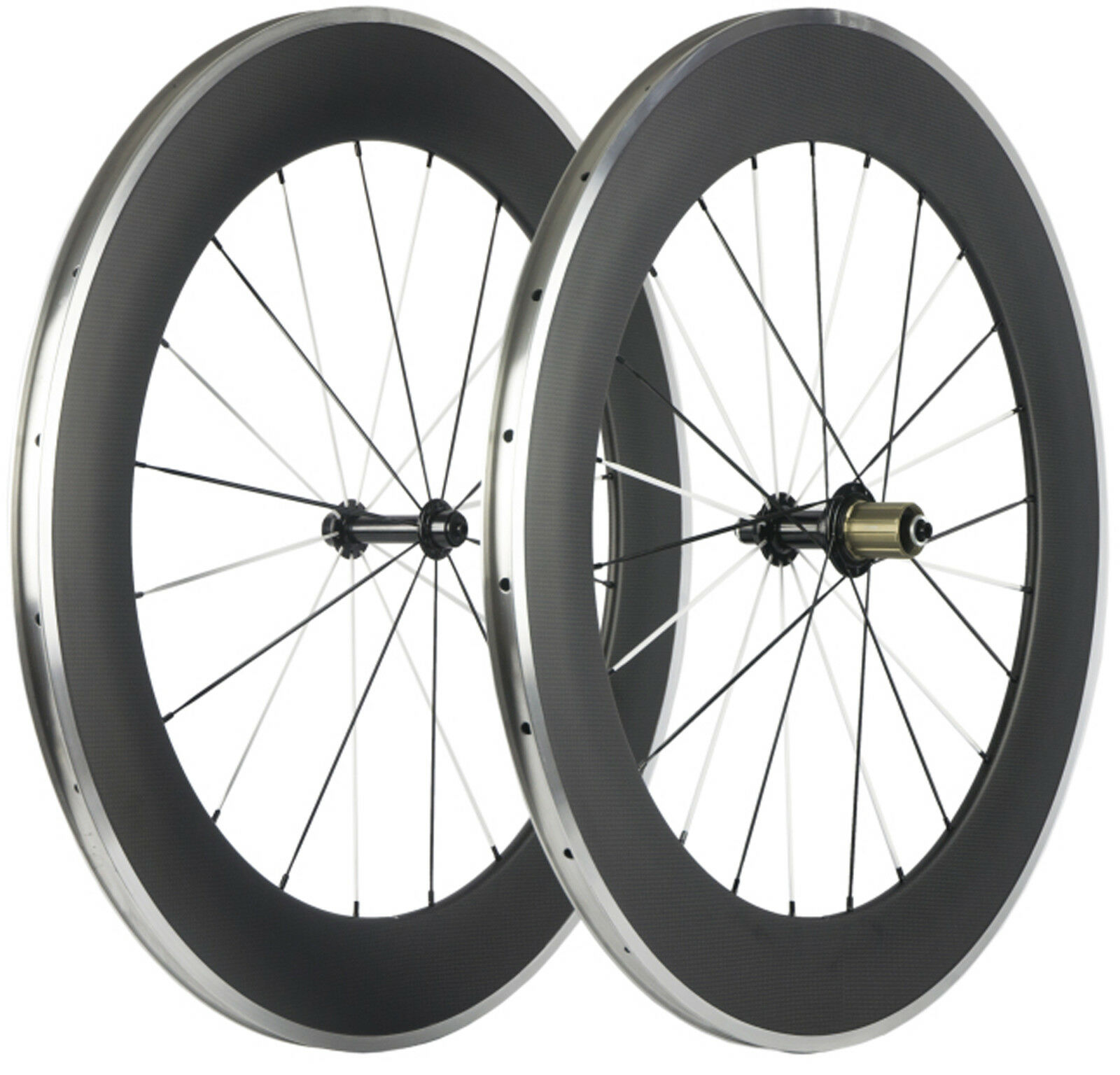 80mm  Clincher Bicycle Wheels Road Bike Cycle Wheelset 700C Aluminum Brake Line  check out the cheapest