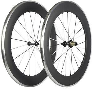 38mm//60mm+80mm Carbon Clincher Wheelset Aluminum Road Bike Carbon Wheels //set