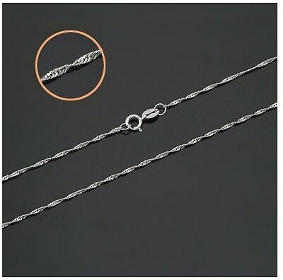 Hot 5pcs Silver 1.4mm Water Wave Chain Necklace size 16-30 inch Wholesale