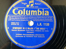"78 rpm 12"" SCHUBERT Symphony in C major, Karajan LX1139"
