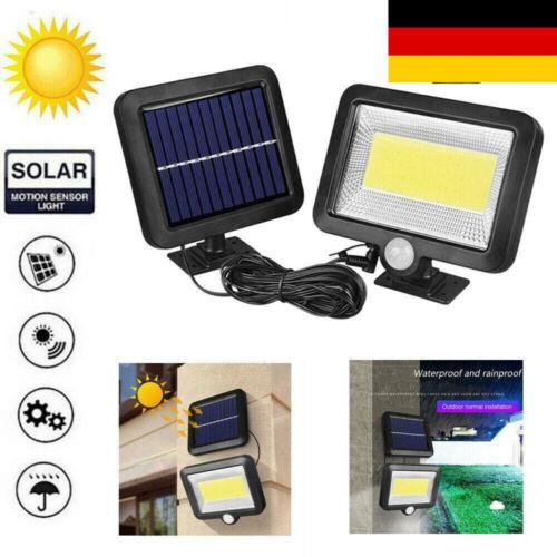 DE 100LED Solarleuchte Bewegungsmelder Solarstrahler Außenleuchte Gartenlampe