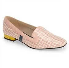 BNIB Orla Kiely Clarks Bella Loafer Patent Leather Shoes, Pink Floral size 8