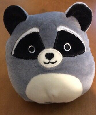 "RANDY Squishmallow 5/"" Gray Black Raccoon Plush Stuffed Inch NEW NWT FreeShipping"