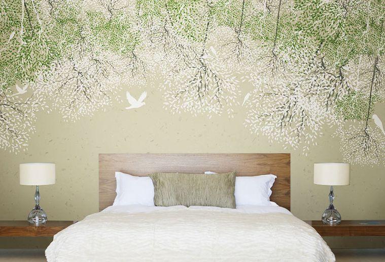 Mega 3D Weiß Flower Vine Paper Wall Print Decal Wall Deco Indoor Wall Murals