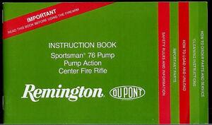 remington model 7600 owners manual
