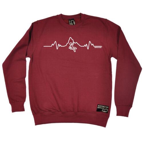 Rock Climbing Heartbeat PulseAdrenaline Addict SWEATSHIRT birthday fashion gift