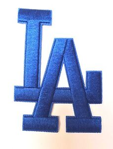 Los-Angeles-Dodgers-L-A-Letters-Blue-Jersey-Patch-Iron-on