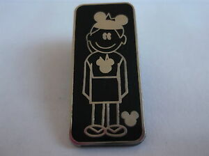 Disney's Girl Child With Mickey Mouse Hat Pin Badge