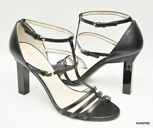 f1ab0826a8 New HUGO Hugo Boss Italian Leather Ankle Strap Strappy Sandal Heel ...