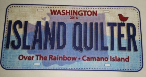 """ISLAND QUILTER 2016 Row by Row Shop License Plate 8/"""" x 5/"""" FREE US SHIPPING"""