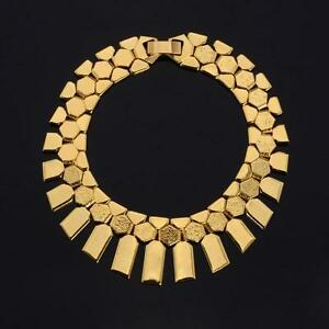 18k-Gold-or-Platinum-Plated-Geometric-Style-Bracelet-Bangle-Flat-Link-Style