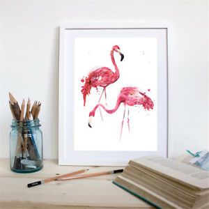 ular-Flamingo-Canvas-Art-Print-North-Animal-Painting-Wall-Picture-No-YWUKR-S