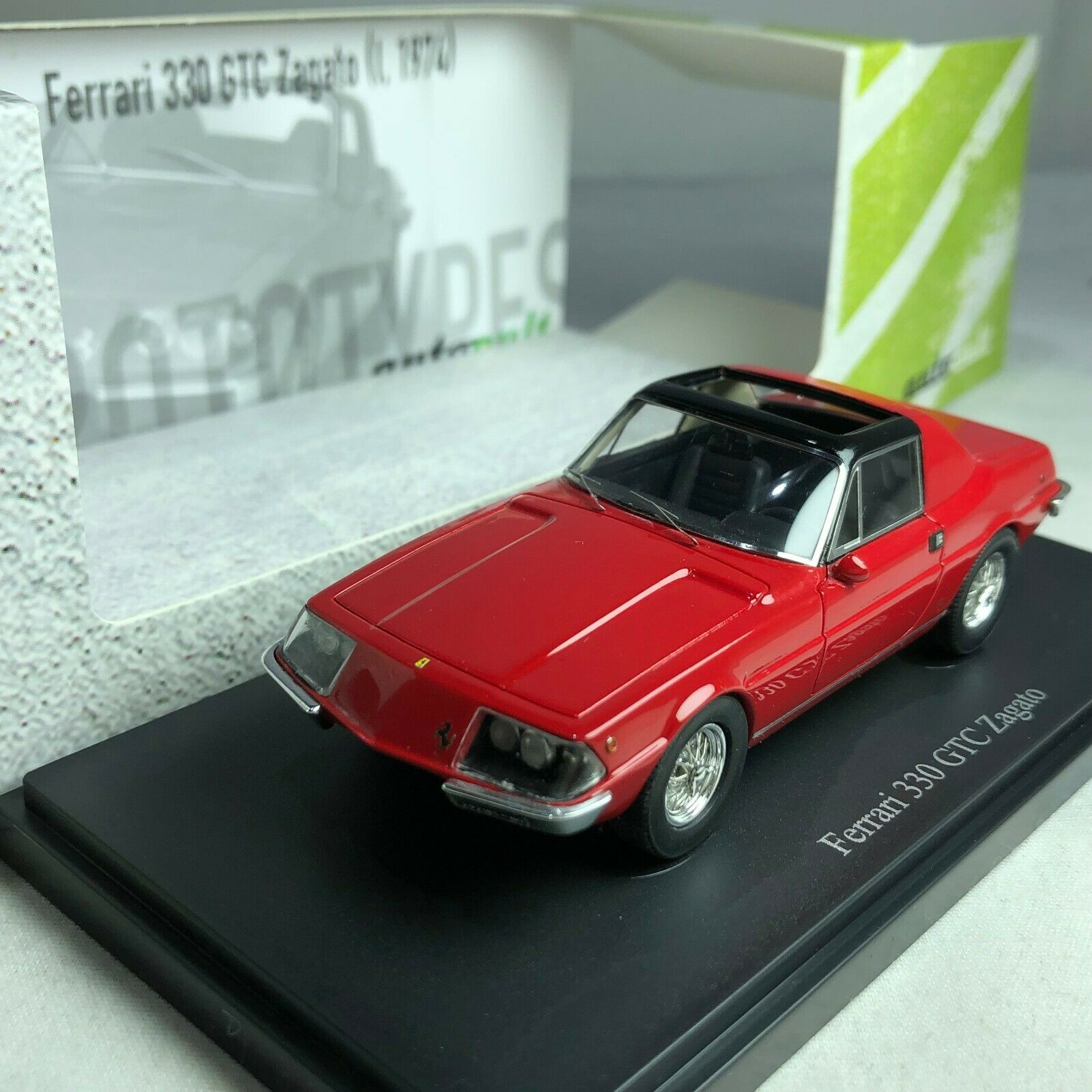 1 43 Autocult Ferrari 330 GTC Zagato Red Ltd 333 pcs
