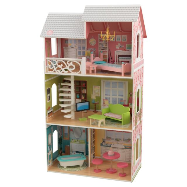 Kidkraft Aria Dollhouse Fits 12 Barbie Doll 11 Pc Furniture Set