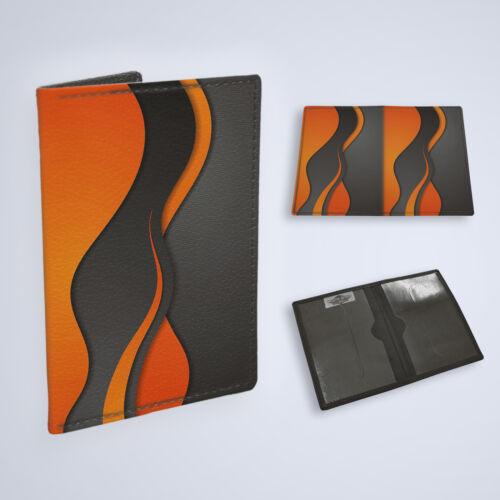 Fahrzeugschein Etui Führerschein KFZ Ausweistasche Mappe 1205 Wellen Orange