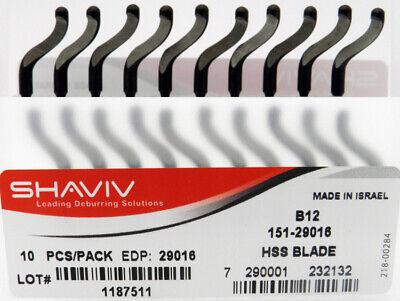 10pcs Type B10 High Speed Steel Deburring Replacement Blades Shaviv EDP #29012