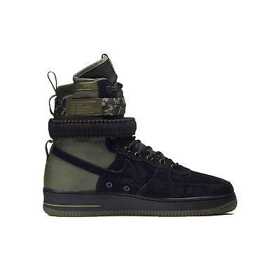 Nike SF AF1 Black Black Medium Olive 864024-004 NEW