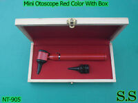 Mini Otoscope Red Color Diagnostic Set With Box, Nt-905