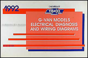 1992 chevy g van wiring diagram manual chevrolet g10 g20 g30 rh ebay com 1992 chevy wiring diagram 92 chevy truck wiring diagram