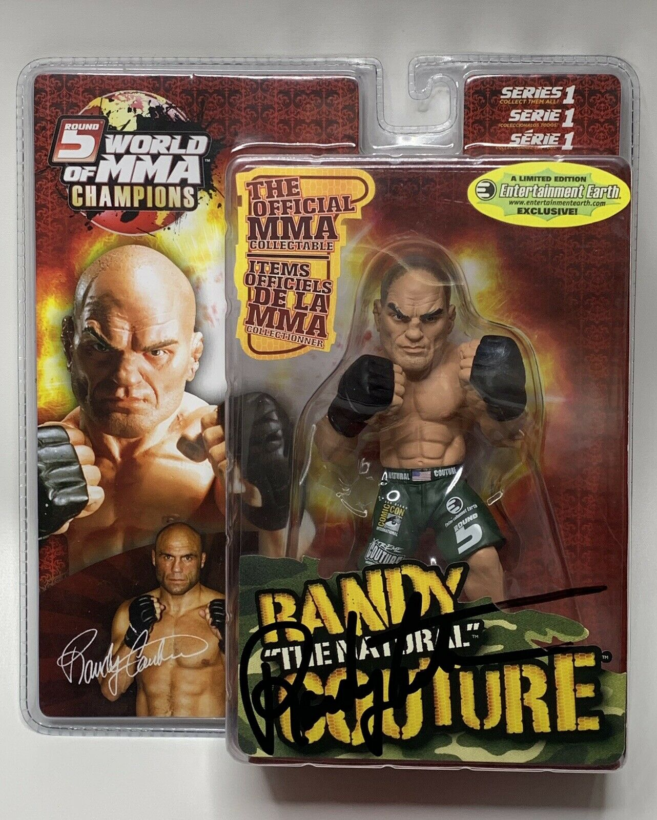 Round 5 MMA Randy Couture Green Shorts Variant UFC Comic Con Signed exclusive