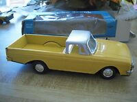 Yellow Uncommon Tin Friction Toy Car Chevy Pickup Truck Or El Camino Toy Truck