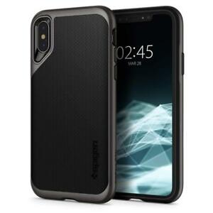 Spigen-Apple-iPhone-X-XS-5-8-Huelle-Neo-Hybrid-Case-Crystal-Bumper-10-gunmetal