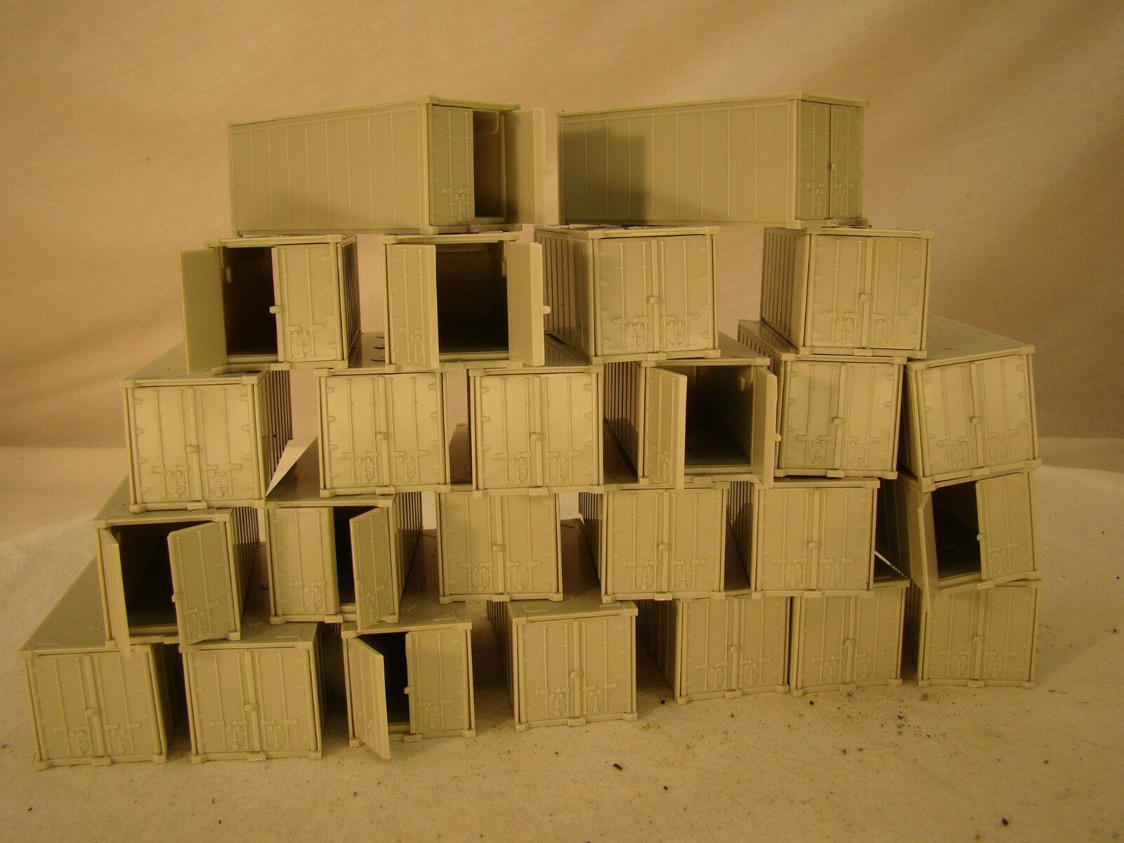 25 recipientes para el almacenamiento o cargar DIORAMAS-escala HO-Lote 25