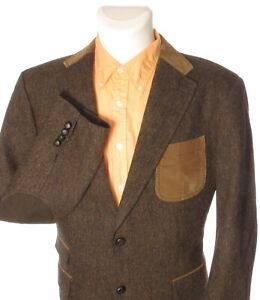 Details about BALDESSARINI Men\u0027s Elbow Patches Brown Sport Coat Suit Jacket  Wool 54 44\u0027\u0027