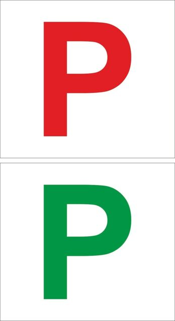 Set of 2 sticker decal vinyl car p plate driver licence provisional probationary