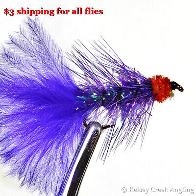 Conehead Rubber Leg White Wooly Bugger streamer 12 fishing fly 1 Dozen