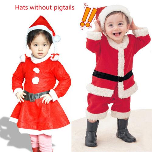 Santa Clause Noël Costume Enfants Garçon Filles Sets Partie montre les vêtements 1-6 ans